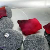 schwebender Kristallstein - transparente Kette + der Klassiker + fliegender Stein - Halskette durchsichtig Bild 3