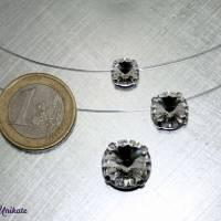 schwebender Kristallstein - transparente Kette + der Klassiker + fliegender Stein - Halskette durchsichtig Bild 5