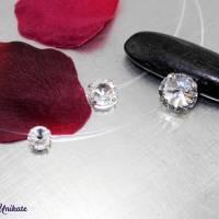 schwebender Kristallstein - transparente Kette + der Klassiker + fliegender Stein - Halskette durchsichtig Bild 6