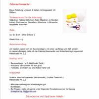 Sternanhänger Häkelanleitung PDF Datei , Weihnachtsstern, Ornamente, Weihnachten Dekoration Bild 6