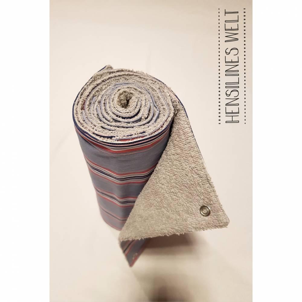 Küchenrolle in der Mehrwegvariante – Design: rosa-graue Streifen Bild 1