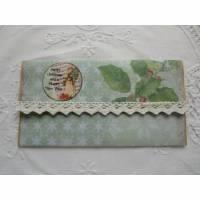 Kuvert als Verpackung für Geld- / Gutschein Geschenke - Weihnachten - von Patchwerk Bild 1