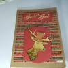 Weihnachtskarte flotter Hirsch in gold mit Zylinder modern handgefertigt Bild 1