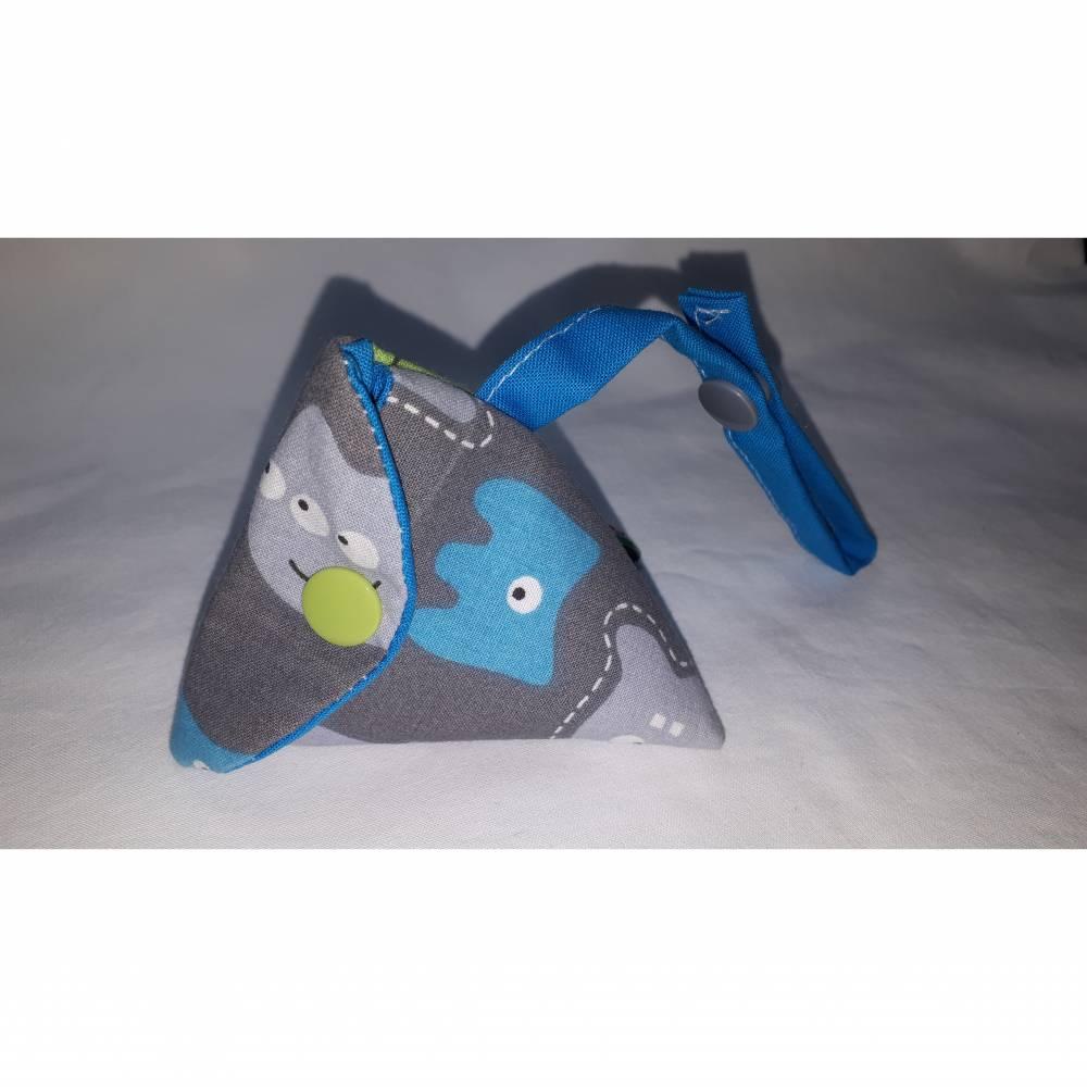 Schnullertasche mit Druckknopf, Pyramidentasche Bild 1