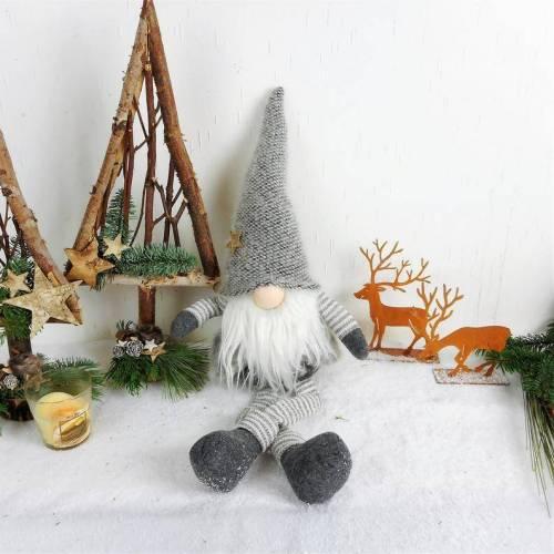 Weihnachtsdeko Wichtel XL, grau weiß