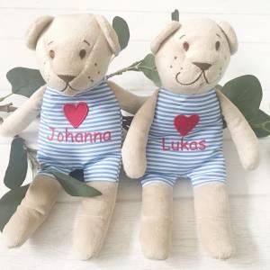 Teddy personalisiert | Bär mit Namen | Gastgeschenk, Platzkarte Bild 1