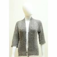 handmade Damen-Strickjacke, gestrickter Cardigan in grau von bcd wollmanufaktur Bild 1