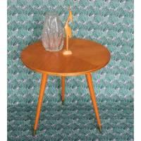 dreibeiniger Tisch 50er Jahre Echtholzfurnier Bild 1
