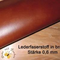 Recyceltes Leder Lederfaserstoff Meterware braun für Handy-Hüllen Taschen Schlüsselanhänger Taschengriffe Bild 1