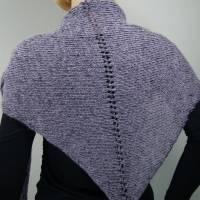Dreieckstuch, Schultertuch, Halstuch, Schal, gestrickt dunkelblau flieder Bild 1