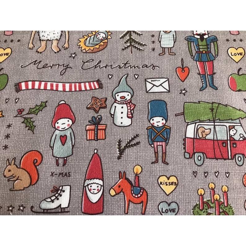 Lillestoff Weihnachtsdoodlw Summersweat Bild 1