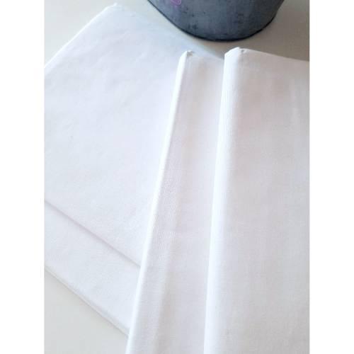 Bettlaken, Betttuch, Laken aus Halbleinen - weiß und unbenutzt - ca. 150 x 250 cm groß