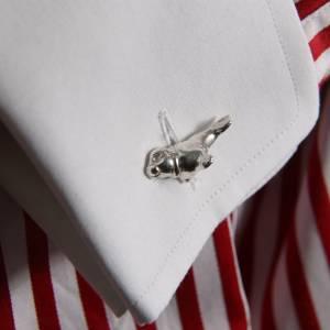 """tierische Manschettenknöpfe """"Lotte Robbe""""  in massiv 935 Silber aus unserer Viecher-Serie, für ein Zwinkern im A"""