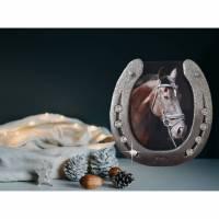 Bilderrahmen aus Hufeisen Geschenk Weihnachten Bild 1