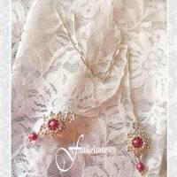 DIANA Kettenohrringe | Durchfädler | Blüten Design | mulberry pink | Peyotetechnik | 925 Silber | Hochzeit Bild 4