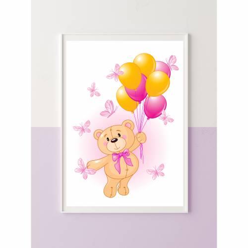 "Kinderbild ""Bärenmädchen"""