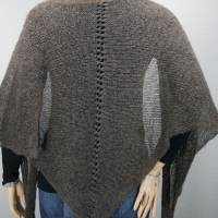 Dreieckstuch, Schultertuch, Halstuch, Schal, gestrickt, taupe grau Bild 2