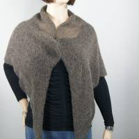 Dreieckstuch, Schultertuch, Halstuch, Schal, gestrickt, taupe grau Bild 6
