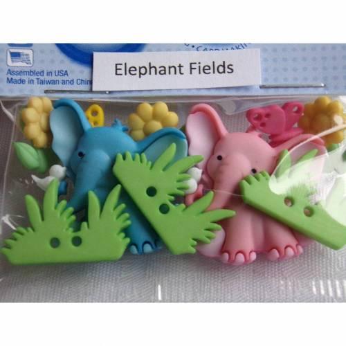 Dress it up Knöpfe Elefanten auf der Wiese (1 Pck.)     Elephant Fields