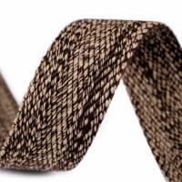 Gurtband beige/braun in Weboptik, 39 mm Breite  Bild 1