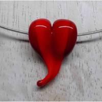 Glasanhänger, Herz in Rot Bild 1