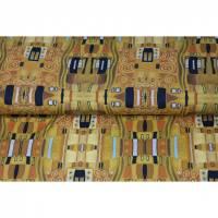 Jersey Kombistoff Klimt Jugendstil Gold Ornamente Ranken 50 x 150 cm Bild 1