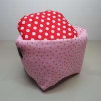 Eierkörbchen/ Eierwärmer *Principessa* Baumwolle mit Deckel nach Wahl  Bild 1