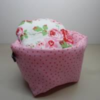 Eierkörbchen/ Eierwärmer *Principessa* Baumwolle mit Deckel nach Wahl  Bild 3