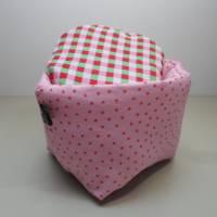 Eierkörbchen/ Eierwärmer *Principessa* Baumwolle mit Deckel nach Wahl  Bild 4