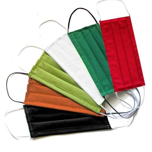 Behelfs-Mund-Nase-Maske, Gr. M Behelfsmaske, Mundschutz, Wunschfarbe uni Baumwollstoff mit Nasenbügel waschbar 60°