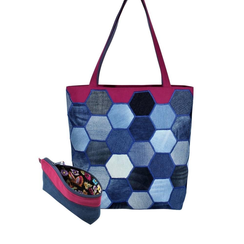 """Taschen- Set """"Carola"""" mit einen aufwendigen Patchwork * Einkaufstasche * Shopper Bild 1"""