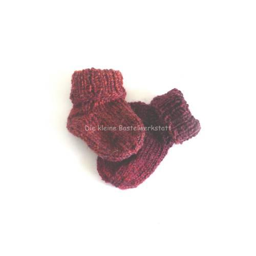 Baby-Socken, Handgestrickte Socken, Puppen-Socken, Frühchen Socken