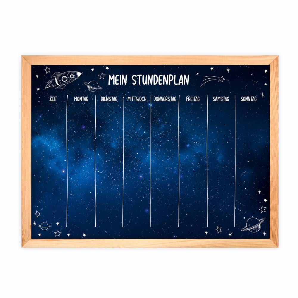 SP-011 magnetischer Stundenplan Weltall mit 90 Magneten Organizer Termine Planen Stundenliste Bild 1