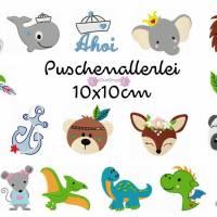 Stickdatei , digitale Stickdatei,Stickdateien Puschenallerlei 10x10cm Bild 1