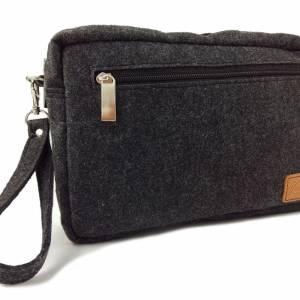 Handgelenk-Tasche Organizer kleine Brieftasche Herrentasche Reisetasche Organizer für Dokumente Bild 1