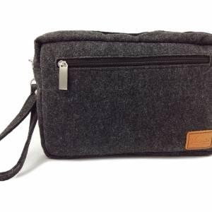 Handgelenk-Tasche Organizer kleine Brieftasche Herrentasche Reisetasche Organizer für Dokumente Bild 3