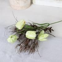 Fritillaria Deko Blumen, Tischdeko, Schachbrettblume, 2 Stiele, je Stiel 2,95 Euro, Floristikbedarf Bild 2