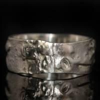 Opalring - Silberring mit Top Opal! Einzelstück vom Goldschmied! Kunstvoller Ring aus 925 Silber - Schwarzer Opal Bild 4