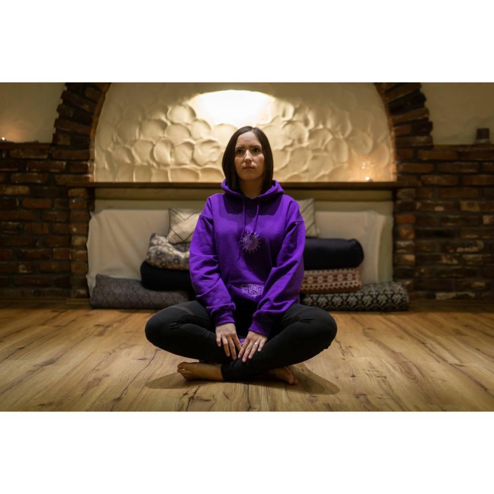 Violett Krishna Hoodie Yoga Meditation goa hippie Kleidung Bild 1