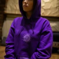 Violett Krishna Hoodie Yoga Meditation goa hippie Kleidung Bild 2
