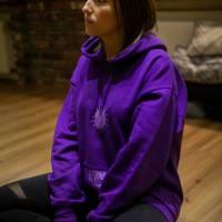 Violett Krishna Hoodie Yoga Meditation goa hippie Kleidung Bild 4