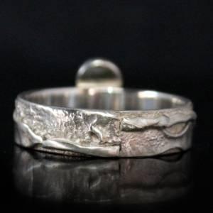 Unikat Opalring / Silberring mit Opal - kunstvoll handgemacht aus 925er Silber - Designerstück Goldschmiedering Unikat Bild 4
