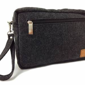 Handgelenk-Tasche für Dokumente Herren Brieftasche Bild 1