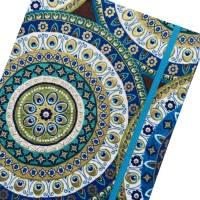 """Notizbuch Tagebuch Reisetagebuch """"Days in Marrakech"""" A5 blanko stoffbezogen Stoff Motiv Ornamente Geschenk Bild 1"""