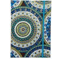 """Notizbuch Tagebuch Reisetagebuch """"Days in Marrakech"""" A5 blanko stoffbezogen Stoff Motiv Ornamente Geschenk Bild 2"""