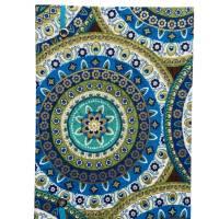 """Notizbuch Tagebuch Reisetagebuch """"Days in Marrakech"""" A5 blanko stoffbezogen Stoff Motiv Ornamente Geschenk Bild 3"""