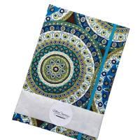 """Notizbuch Tagebuch Reisetagebuch """"Days in Marrakech"""" A5 blanko stoffbezogen Stoff Motiv Ornamente Geschenk Bild 5"""