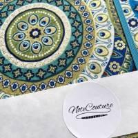 """Notizbuch Tagebuch Reisetagebuch """"Days in Marrakech"""" A5 blanko stoffbezogen Stoff Motiv Ornamente Geschenk Bild 6"""