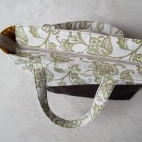 Handtasche, Tragetasche, Jeans, Upcycling, Vintage, Blumenmuster Bild 3