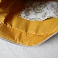 Handtasche, Tragetasche, Jeans, Upcycling, Vintage, Blumenmuster Bild 4